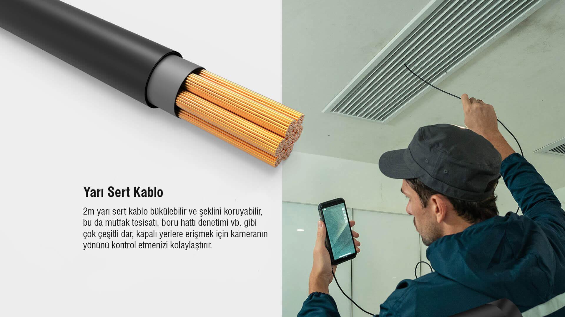 ULEFONE Armor El Kontrol Ünitesi Endoscope Kablosu