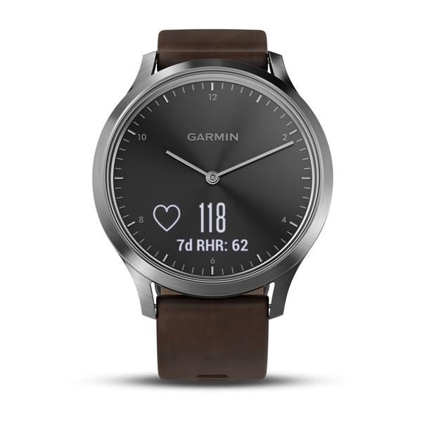 Garmin vivomove HR Silver Premium - Deri Kayış