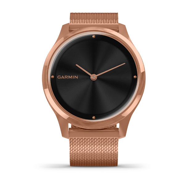 Garmin vivomove Luxe 18K Rose Gold PVD Rose Gold - Milanese Kayışlı
