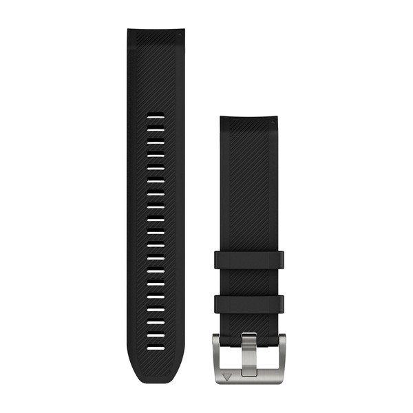 Garmin Quickfit 22 mm MARQ Yedek Kayış - Siyah - Gümüş