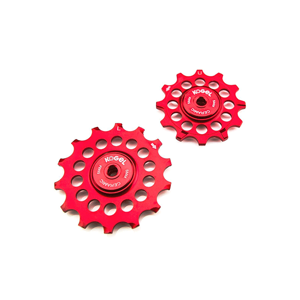 Kogel 12/14T Oversized derailleur pulley / Full Ceramic Shimano - Fire Engine Red
