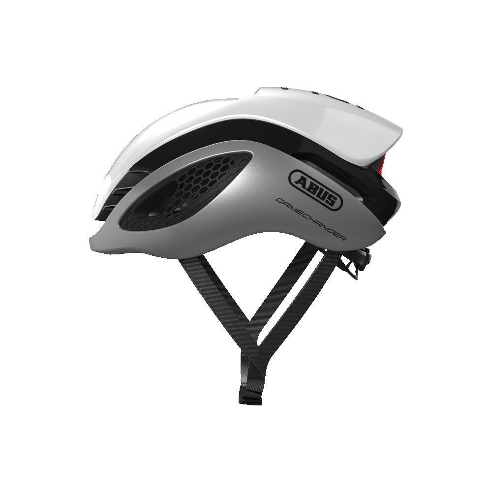 ABUS Gamechanger Road Bisiklet Kaskı M - Silver White