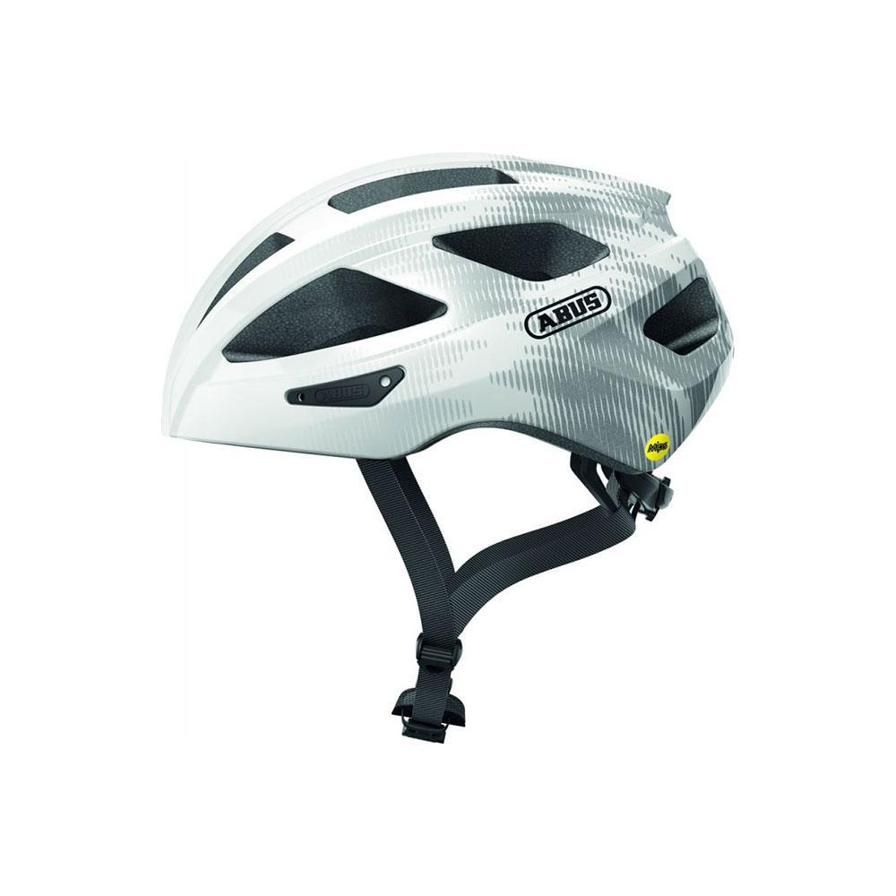 ABUS MACATOR MIPS Road Bisiklet Kaskı M - Polar White