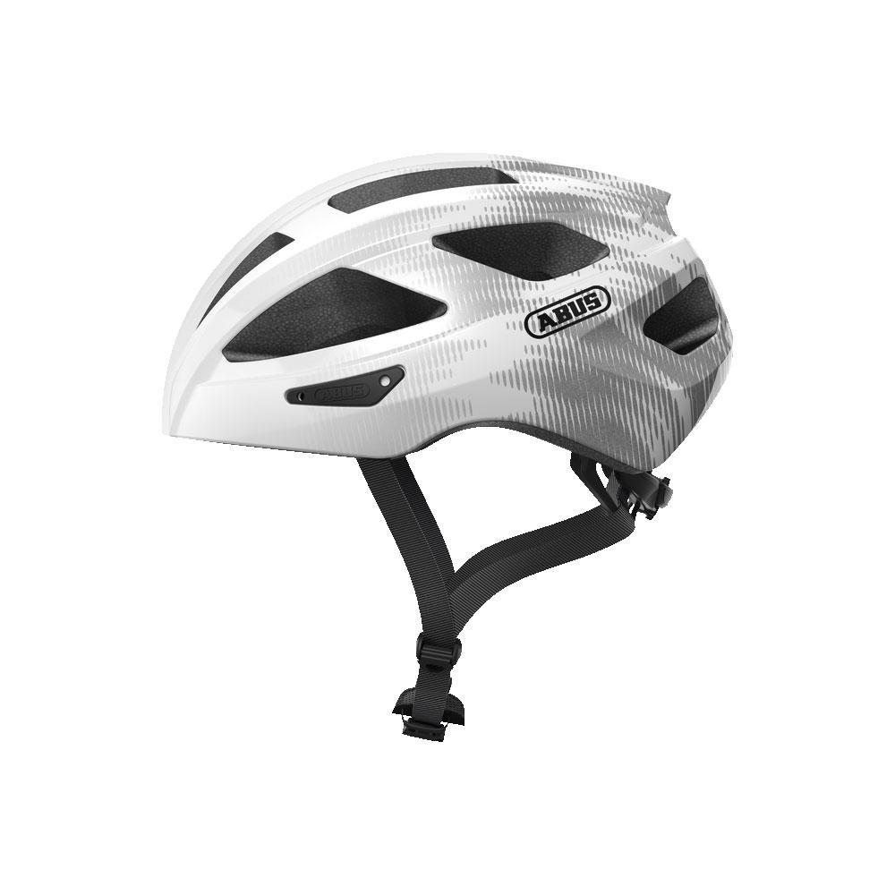 ABUS MACATOR Road Bisiklet Kaskı M - White Silver
