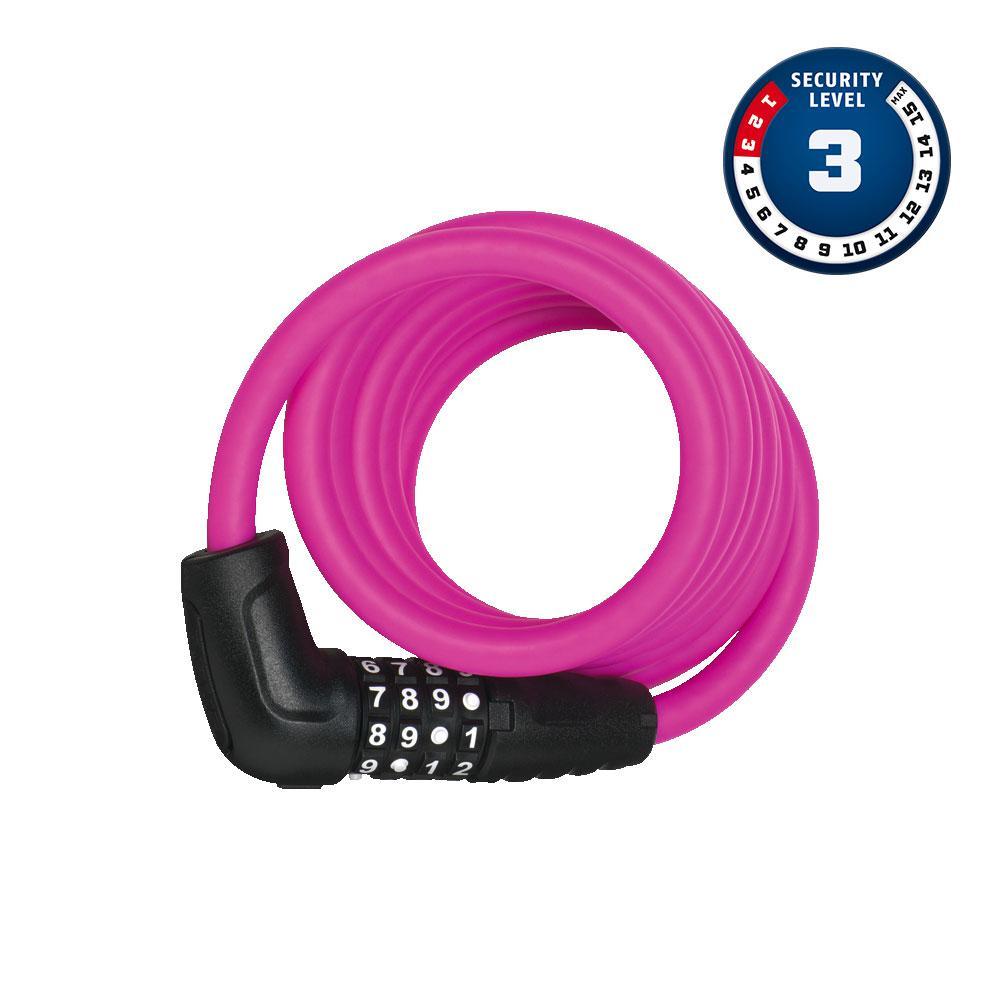 ABUS NUMERO 5510C/180/10 Pink SCMU Bisiklet Kilidi