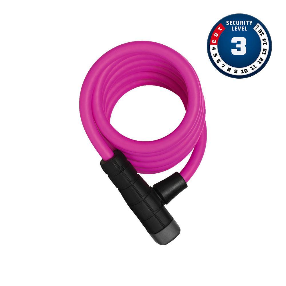 ABUS PRIMO 5510K/180/10 Pink SCMU Bisiklet Kilidi